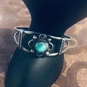 Vintage Navajo Sterling Silver Bracelet